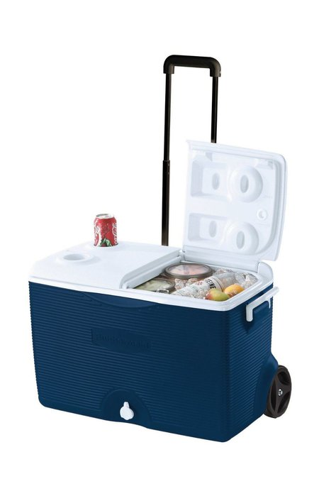 Rubbermaid Ice Chest / Cooler, Blue, 60-quart Wheeled