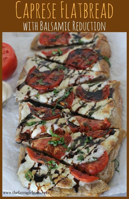 Caprese Flatbread with Balsamic Reduction recipe. disney recipe