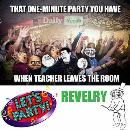 Revelry mnemonic, picture, hindi meaning
