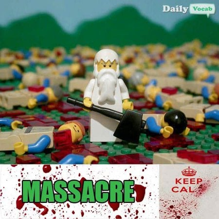 massacre English Hindi meaning image
