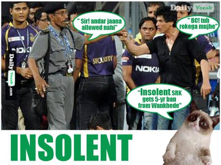 Insolent-English Hindi Dictionary