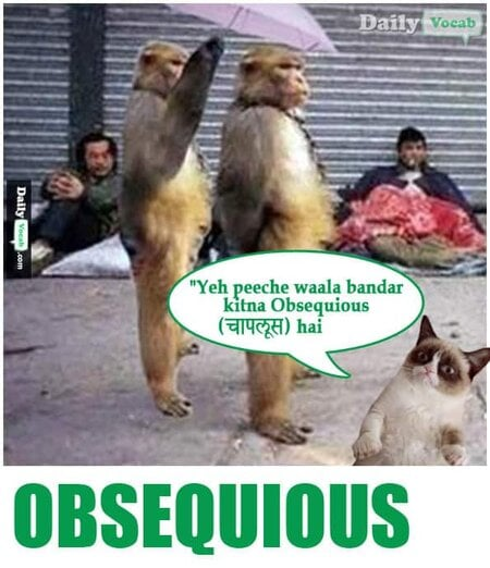 Obsequious English Hindi Dictionary
