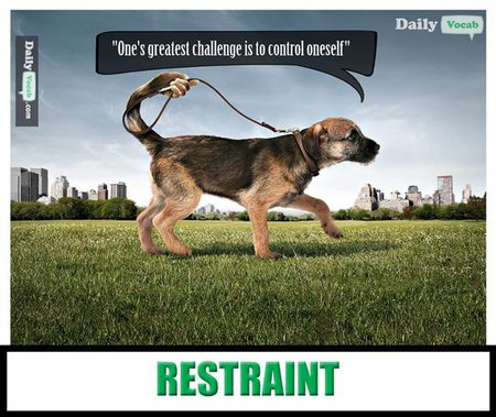 restraint English Hindi Dictionary
