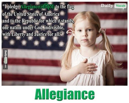 ALLEGIANCE English Hindi Meaning