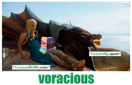 voracious English Hindi meaning