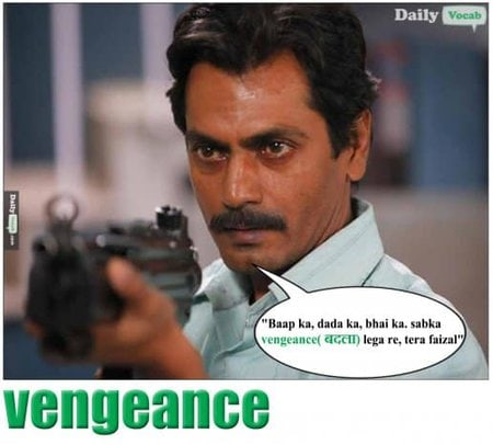 vengeance English Hindi meaning