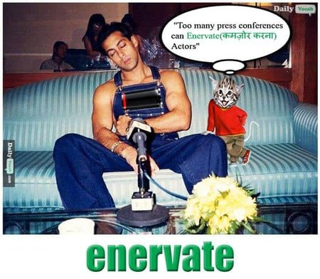 Enervate English Hindi Meaning
