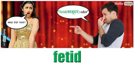 fetid English Hindi Meaning