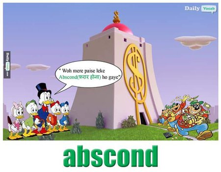 Abscond English Hindi meaning
