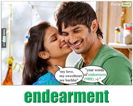 Endearment English Hindi meaning