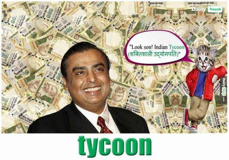 Tycoon English Hindi meaning