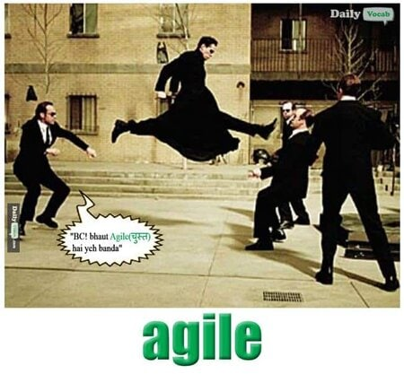 agile English Hindi meaning