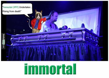 immortal English Hindi meaning