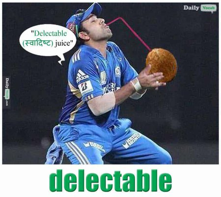 DELECTABLE English Hindi meaning