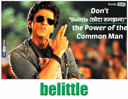 belittle English Hindi meaning