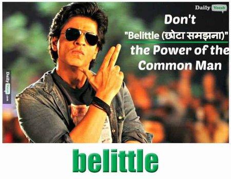 belittle English Hindi meaning