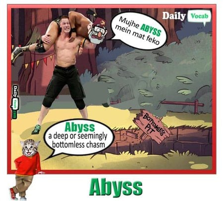 ABYSS English Hindi meaning