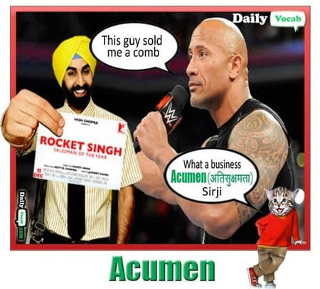 Acumen English Hindi Meaning