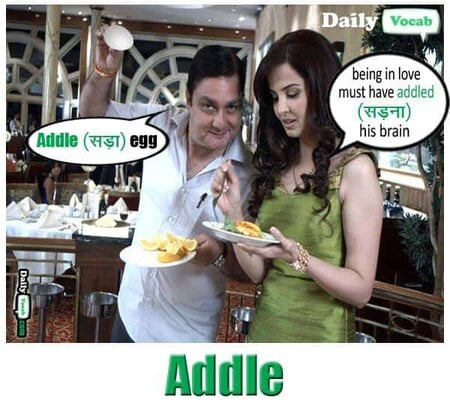 Addle English Hindi meaning