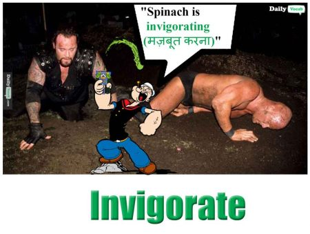 invigorate meaning in Hindi