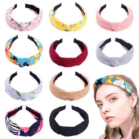 10 pack knot headbands | 40plusstyle.com