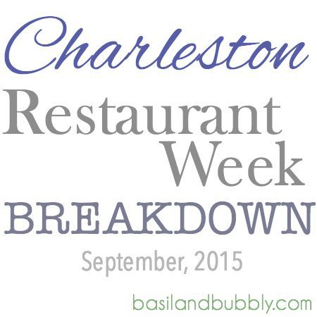 Charleston Restaurant Week 2015