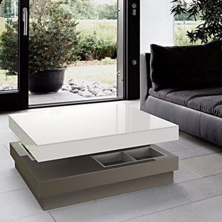 Celia Coffee Table from Akante - Lacquered Taupe