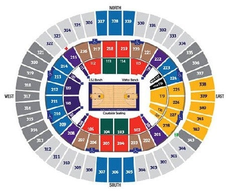LSU Tigers Mens Basketball Seating Chart