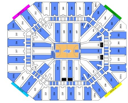 North Carolina Tar Heels Mens Basketball Seating Chart