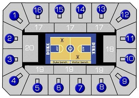 duke blue devils mens basketball seating chart