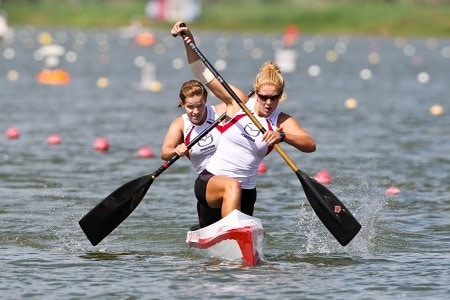 WomenCan International, an organization working to get equal representation of women's canoe sporting events in the Olympics, says that sprint canoe/kayak debuted at the 1924 Olympics as an exhibition sport with three events each, but of the 12 events now in the Olympics, nine are kayak events and three are canoe events – all three of which are men's.