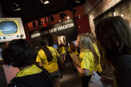 In addition to the Reacting to the Past role-playing sessions, first-year Brenau University students also learned about the 1960s civil rights movement by touring the Center for Human and Civil Rights in Atlanta. (Nick Dentamaro/Brenau University)