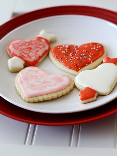 Valentine Cut Out Cookies
