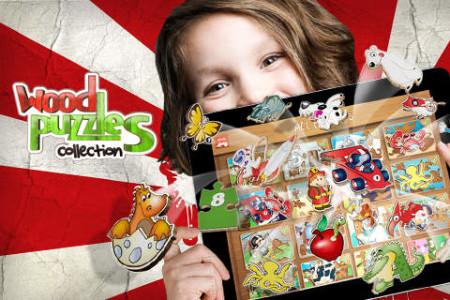 Wood Puzzles Collection juegos rompecabezas aprender ingles