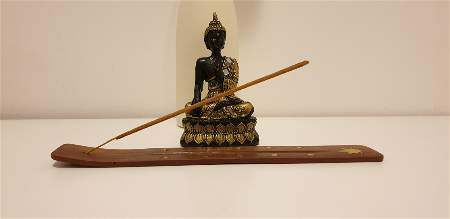 Buddha Statue and Incense