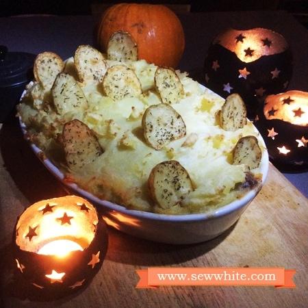Sew White graveyard pie Unilever Halloween 1