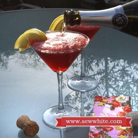 Sew White raspberry prosecco cocktails 3