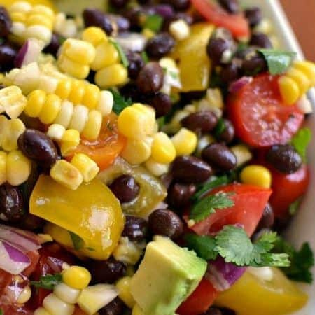 Fresh Black Bean and Corn Salad (Relish)