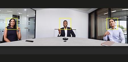caméra visiosconference technologie vidéo intelligente reconnaissance de visages