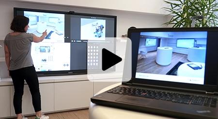 écran interactif visio partage écran espace collaboratif