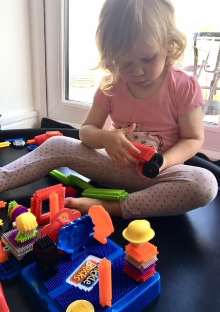 Stickle Bricks playtime