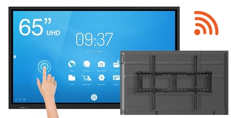 Pack Support mural ecran interactif Android WiFi