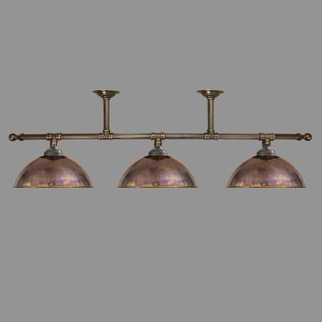 Lighting Pendant 3 Light Bar Copper Dome shades