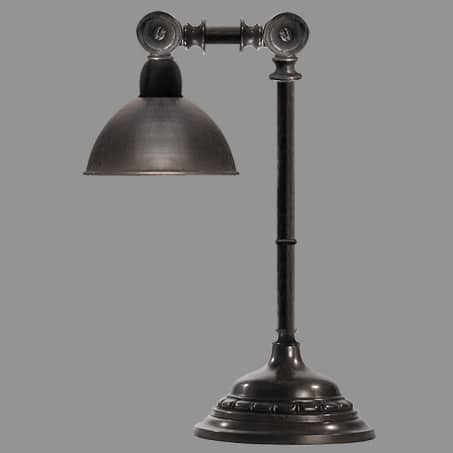 Desk-table lamp metal shade
