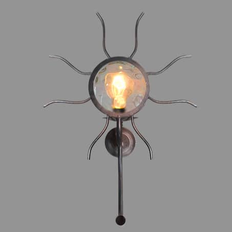 Industrial Wall Light Sunburst Design