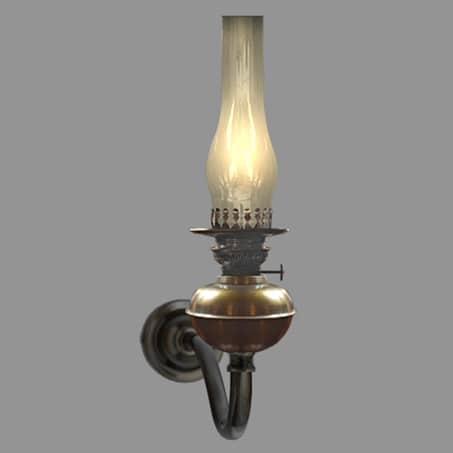 Rustic Oil wall light