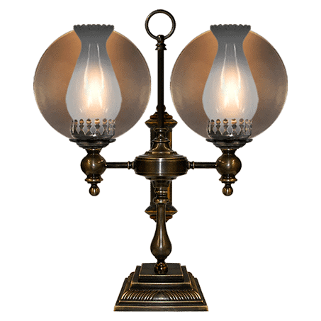 Desk Table lamp with double reflector arms