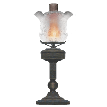 Victorian table-desk lamp etched glass shade