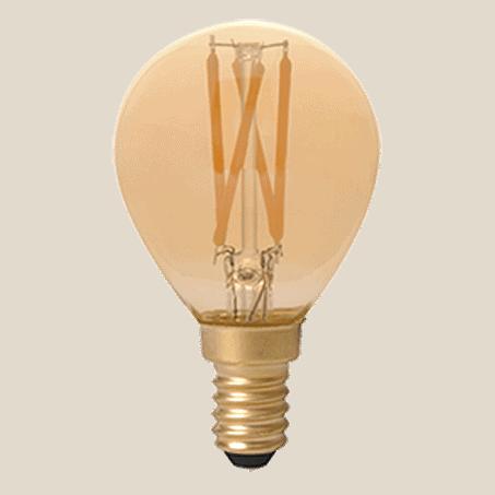 Spherical LED lamp E14 cap Gold Finish