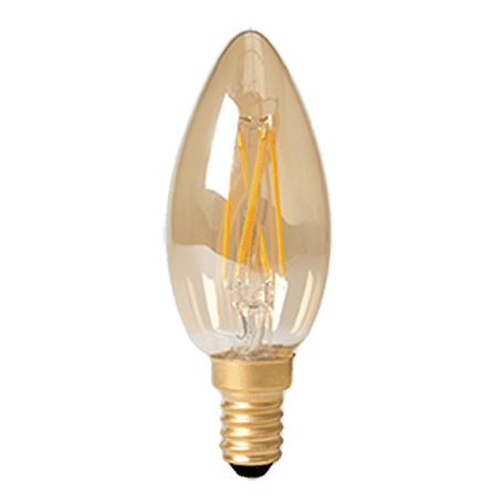 Candle Lamp LED E14 cap Golf Finish